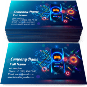 Carsharing Service Concept Business Card Template