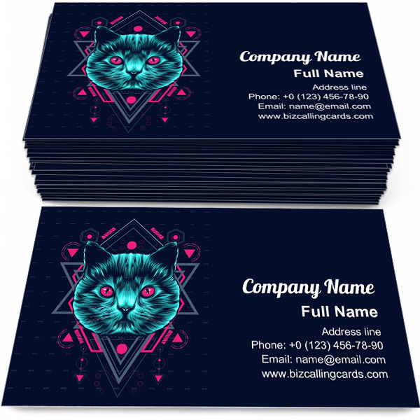 Sample of Cat sacred Geometry business card design for advertisements marketing ideas and promote sacredgeometry branding identity