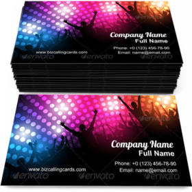 Celebration Party Business Card Template