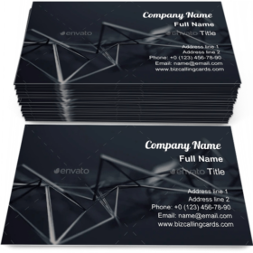 Chaotic plexus surface Business Card Template