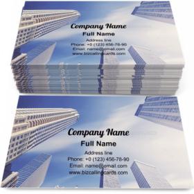 Chicago skyscrapers Business Card Template