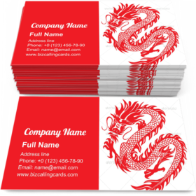 Chinese Dragon Business Card Template
