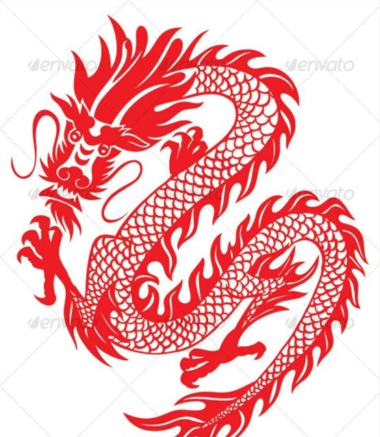 Editable Chinese Dragon Business Card Template