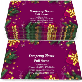 Christmas Gift Boxes Business Card Template