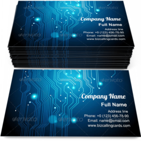 Circuit Board Texture Business Card Template