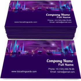 City Bay with Drawbridge Business Card Template