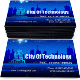 City of Technology Business Card Template