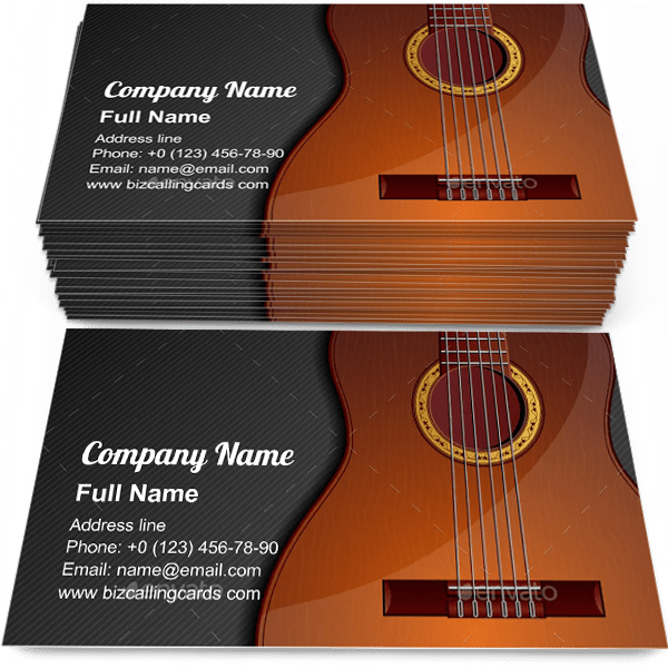 Classic Acoustic Guitar Business Card Template