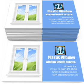 Classic Plastic Window Business Card Template