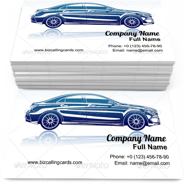 Sample of Classic automobile calling card design for advertisements marketing ideas and promote driver branding identity