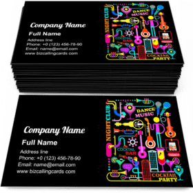Cocktail Party Business Card Template