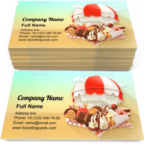 Coffee and Pastry Shop Business Card Template