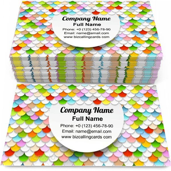 Sample of Colorful Paper Circles calling card design for advertisements marketing ideas and promote pattern branding identity