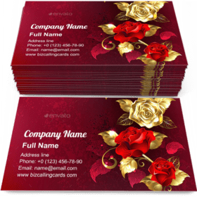 Composition with Jewelry Roses Business Card Template
