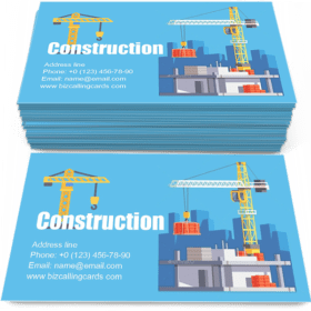 Construction of Building House Business Card Template