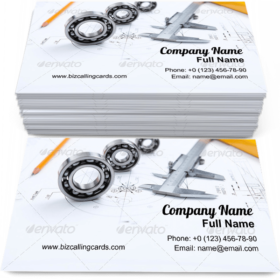 Construction project papers Business Card Template