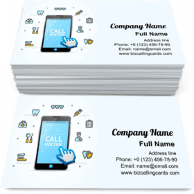 Consultation Doctor Call Business Card Template