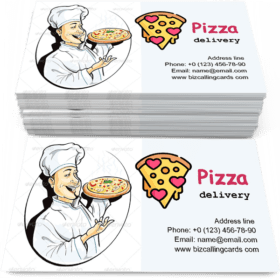 Cook with Pizza Business Card Template