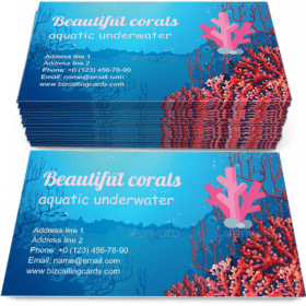 Corals Under the Sea Business Card Template