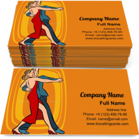 Couple Dancing Tango Business Card Template