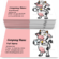 Cow Holding a Glass of Milk Business Card Template