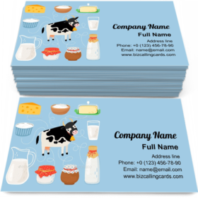 Cow and Dairy Products Business Card Template