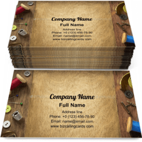 Craft fabric table Business Card Template