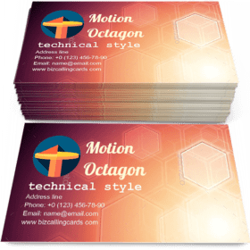 Creative motion octagon Business Card Template