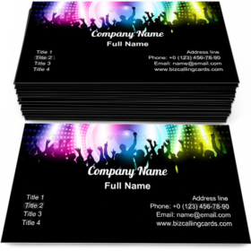 Crowd on music speaker Business Card Template
