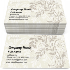 Curly decorative floral Business Card Template