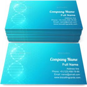 DNA Biomedical Research Business Card Template