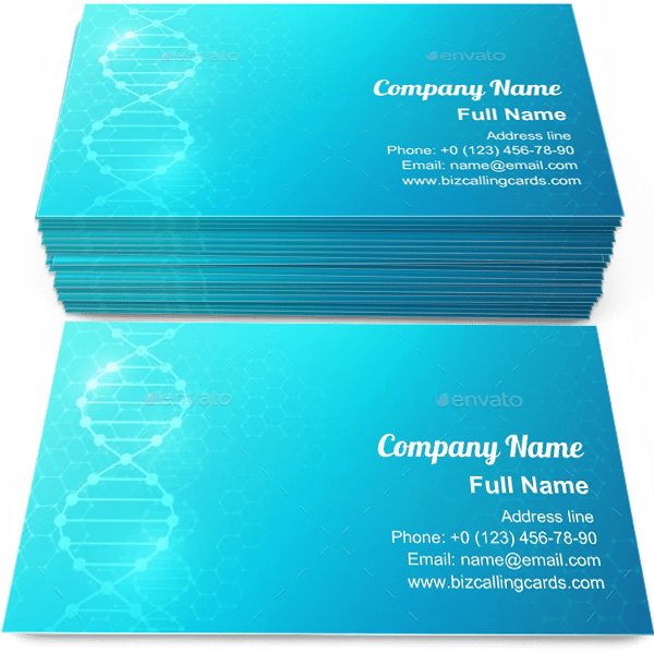 Sample of DNA Biomedical Research calling card design for advertisements marketing ideas and promote Biomedical branding identity