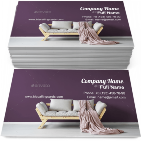 Day room interior Business Card Template