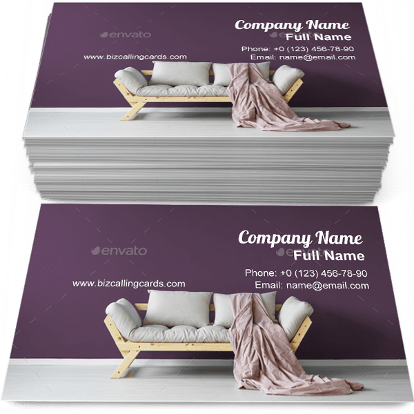 Sample of Day room interior business card design for advertisements marketing ideas and promote interior furniture branding identity