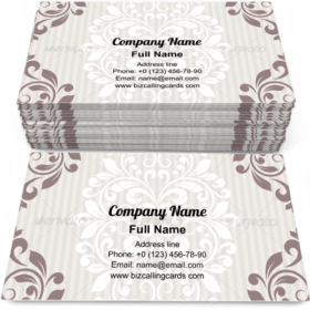 Decor vignette paper Business Card Template