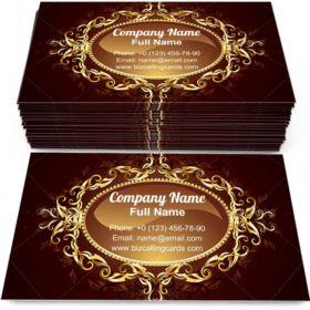 Decorated in jewelry Business Card Template