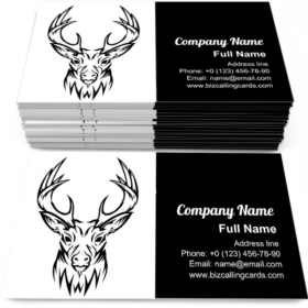 Deer made from lines Business Card Template