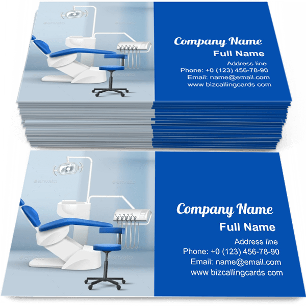 Sample of Dental Practice Room business card design for advertisements marketing ideas and promote dentist branding identity