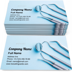 Dentists accessory tools Business Card Template