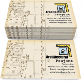 Detailed Architectural Project Business Card Template