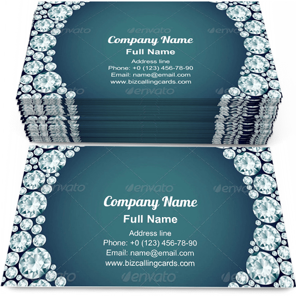 Sample of Diamond Frame calling card design for advertisements marketing ideas and promote luxurious branding identity