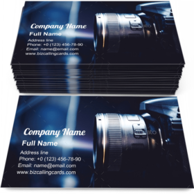 Digital Camera Photography Business Card Template