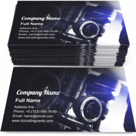 Digital Camera and Lenses Business Card Template