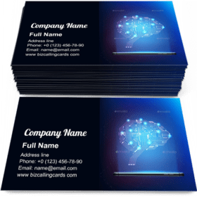 Digital Circuit Brain Business Card Template
