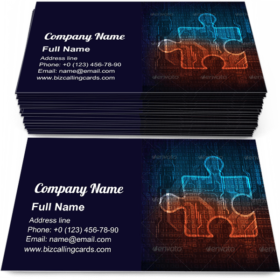 Digital Puzzle Business Card Template