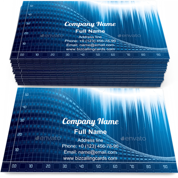 Sample of Digitally abstract techno calling card design for advertisements marketing ideas and promote electronics industry branding identity
