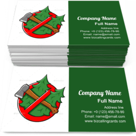 Do Not Cut Tree Sign Business Card Template