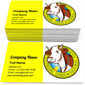 Domestic Cow Head Business Card Template