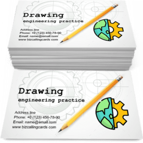 Drawing with Pencil Business Card Template