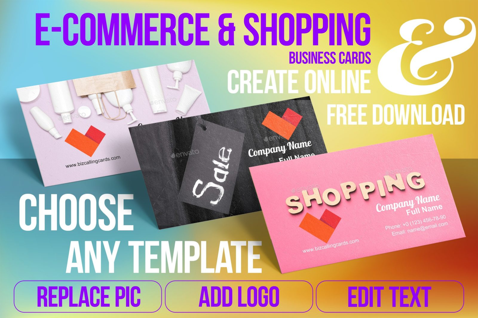 Business Card Templates For Shop Free Download